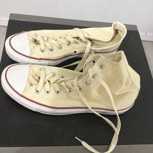 Cream Converse Hightops